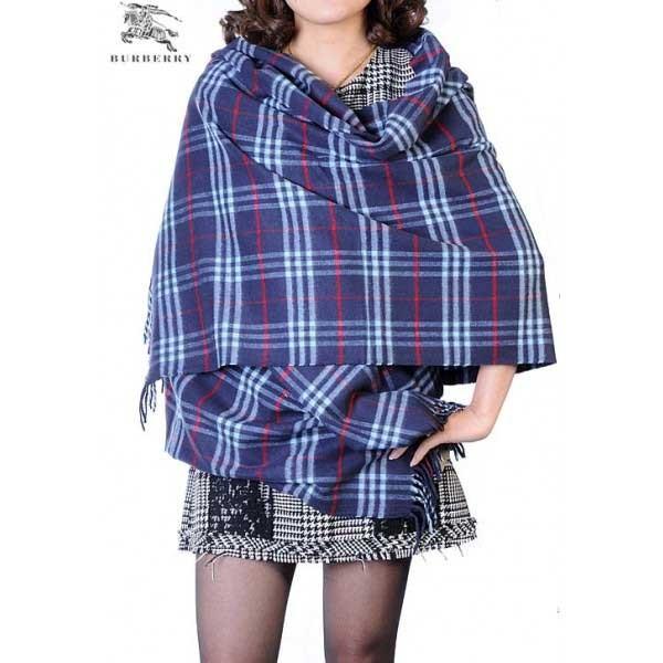 Burberry check merino wool cashmere wrap blue online
