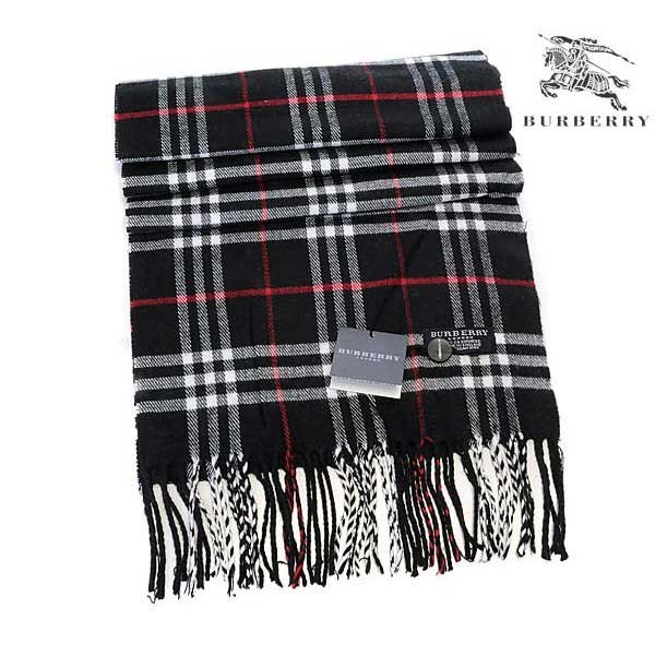 Burberry wool cashmere scarf black sale
