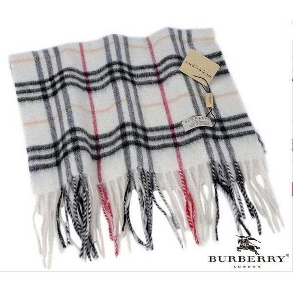 Burberry ivory check cashmere scarf