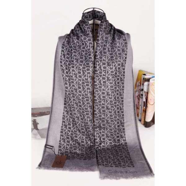 Calvin Klein silk scarf gray