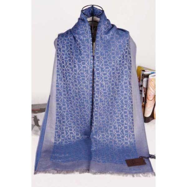 Calvin Klein silk scarf blue