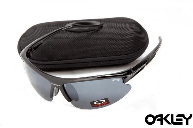 Oakley sunglasses in polished black and grey iridium