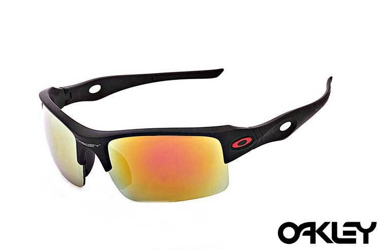Oakley sunglasses in matte black and ruby iridium