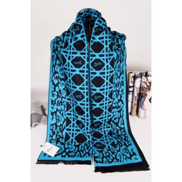 Dior wool scarf blue / black