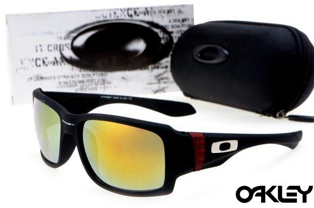 oakley big taco sunglasses in matte black and fire iridium