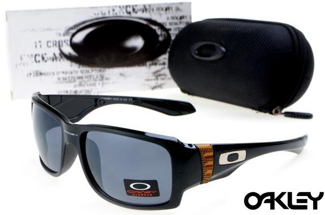oakley big taco sunglasses in polished black and black iridium