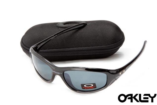 Oakley encounter polished black and orion blue iridium
