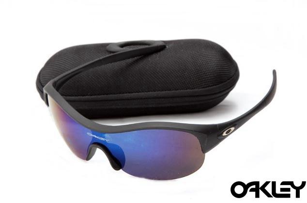 Oakley enduring pace sunglasses in matte black and ice iridium