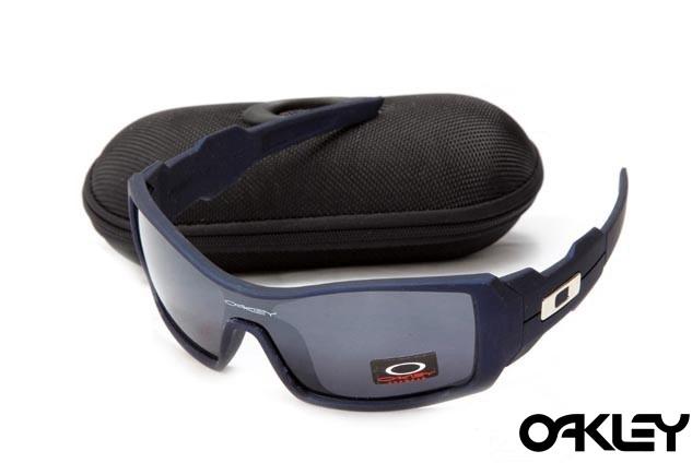 Oakley oil drum sunglasses in matte blue and grey