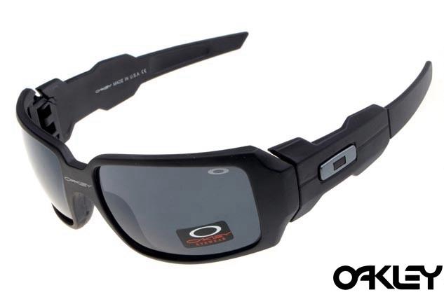 Oakley oil drum sunglasses in matte black and black iridium