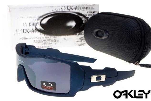 Oakley oil drum sunglasses in matte blue and clear sale