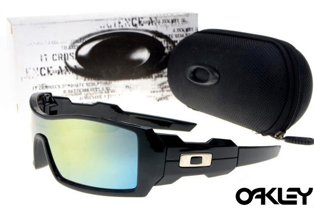 Oakley oil drum sunglasses in polished black and ice iridium online