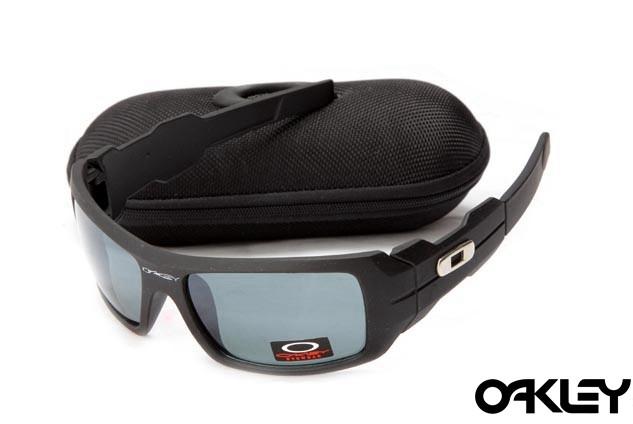Oakley oil drum sunglasses in matte black and grey iridium sale