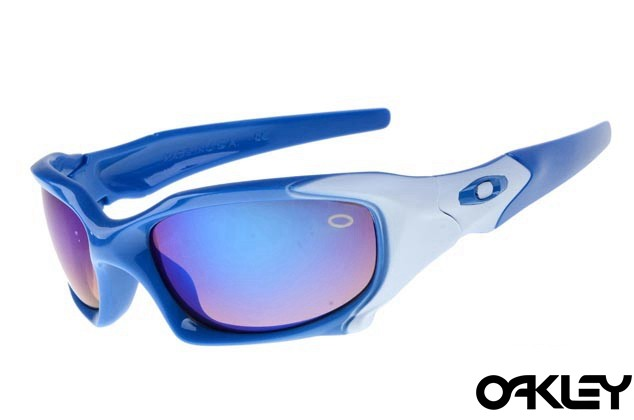 Oakley pit boss sunglasses in polished blue and ice iridium