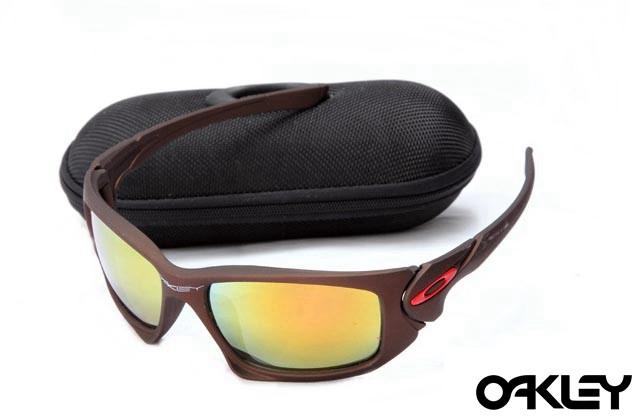 Oakley scalpel sunglasses in dark brown and fire iridium