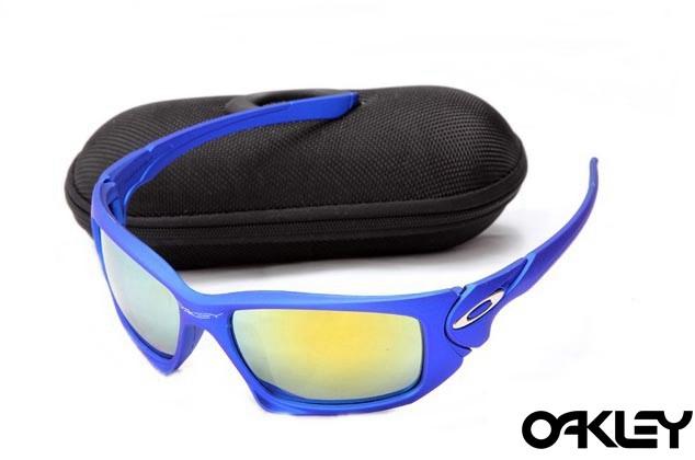 Oakley scalpel sunglasses in blue and fire iridium