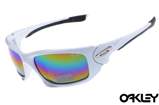 Oakley scalpel sunglasses in polished white and colorful