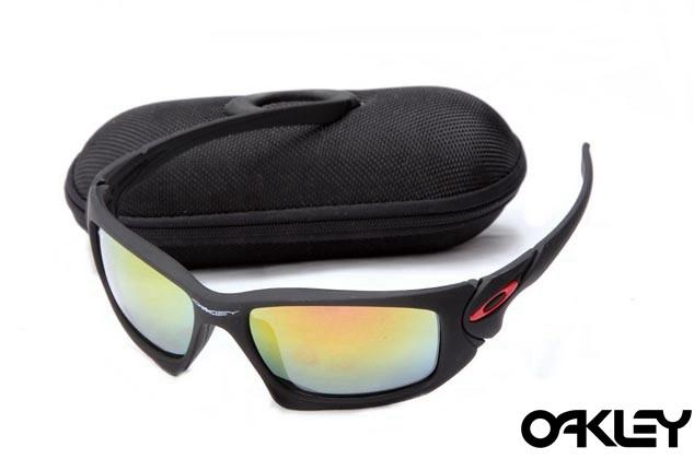 Oakley scalpel sunglasses in matte black and fire iridium