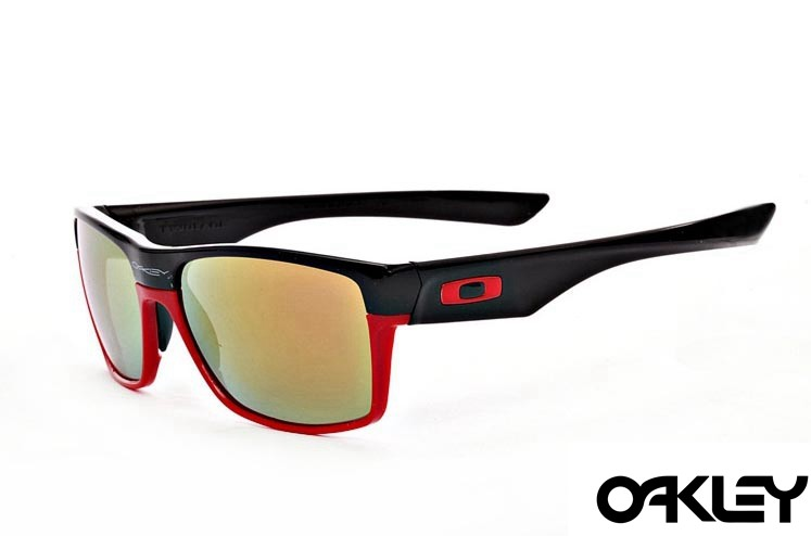 Oakley twoface sunglasses in matte black and red and fire iridium