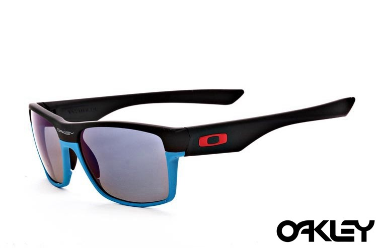 Oakley twoface sunglasses in matte black and sky blue and light purple