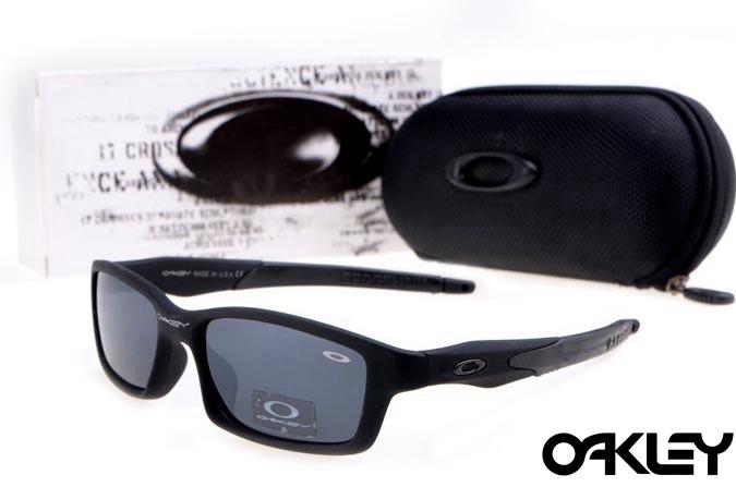 Oakley crosslink sunglasses in matte black and black iridium