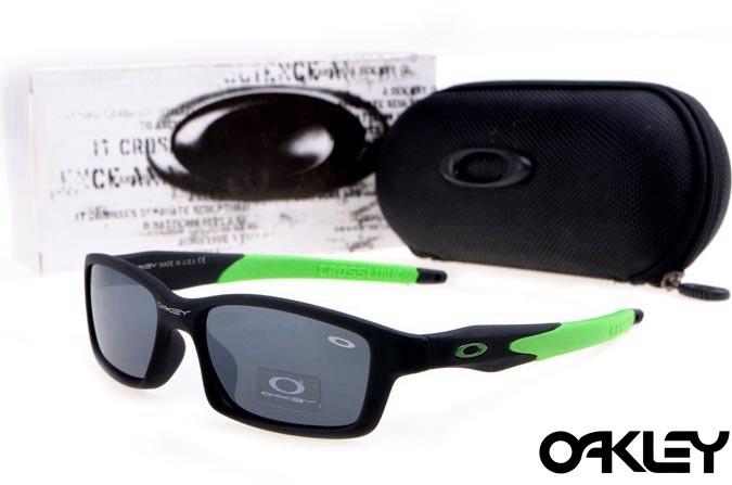 Oakley crosslink sunglasses in matte black and island green and black iridium