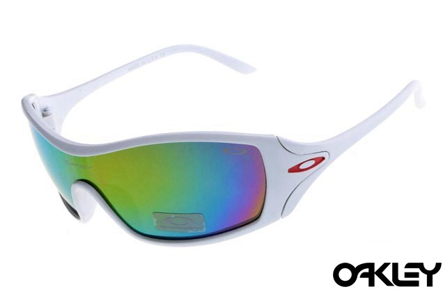 Oakley dart matte white and colorful iridium