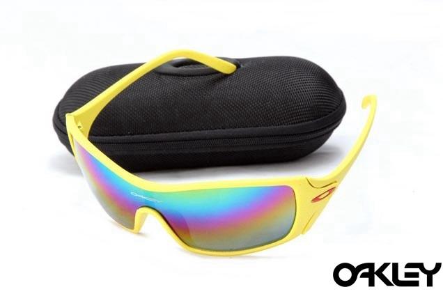 Oakley dart matte yellow and colorful iridium