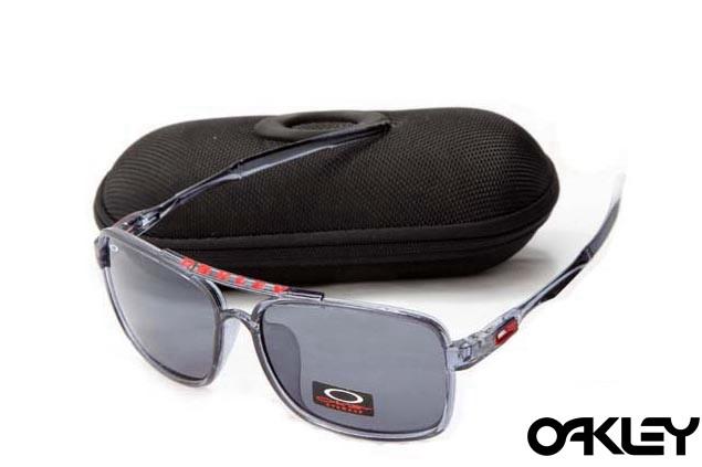 Oakley deviation sunglasses in crystal grey and grey iridium