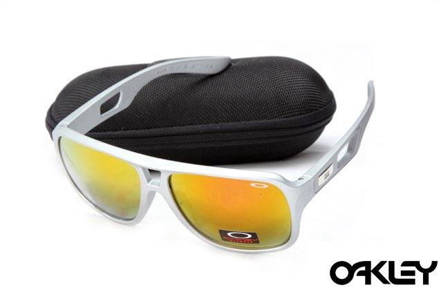 Oakley dispatch II sunglasses in grey and fire iridium
