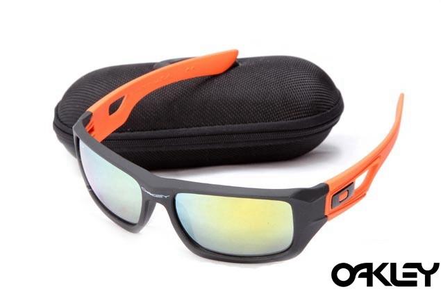 Oakley eyepatch 2 matte black and orange  and fire iridium