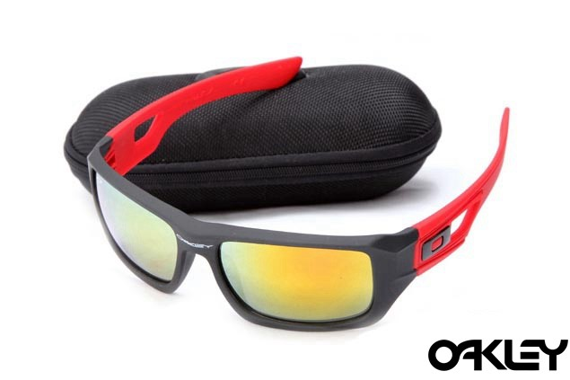 Oakley eyepatch 2 matte black and red  and fire iridium