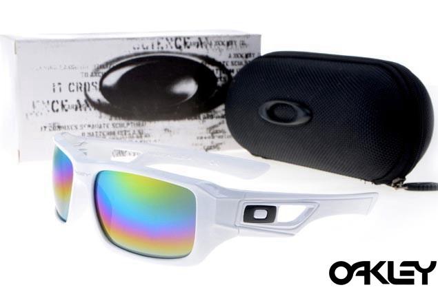 Oakley eyepatch 2 white and colorful iridium