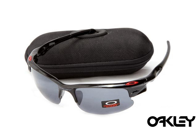Oakley fast jacket sunglasses in polished black and black iridium