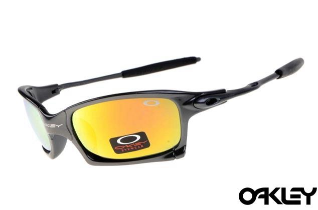 Oakley x squared sunglasses in black and fire iridium