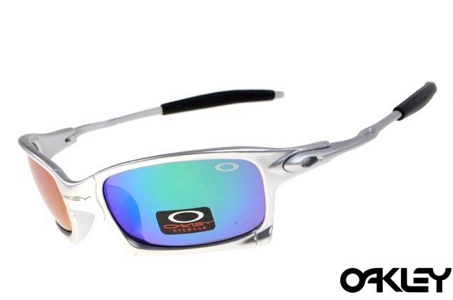 Oakley x squared sunglasses in silver and ice iridium