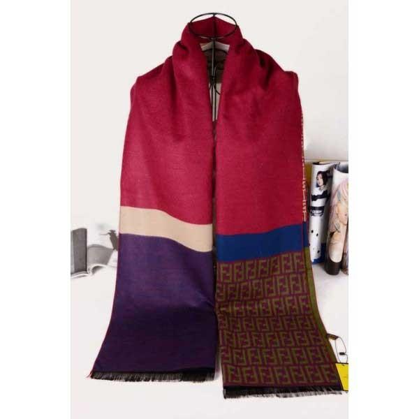 Fendi scarf wool red