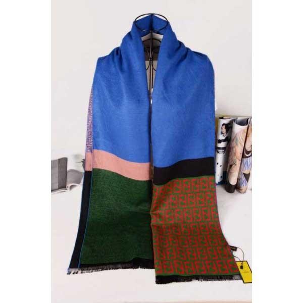 Fendi wool blue scarf