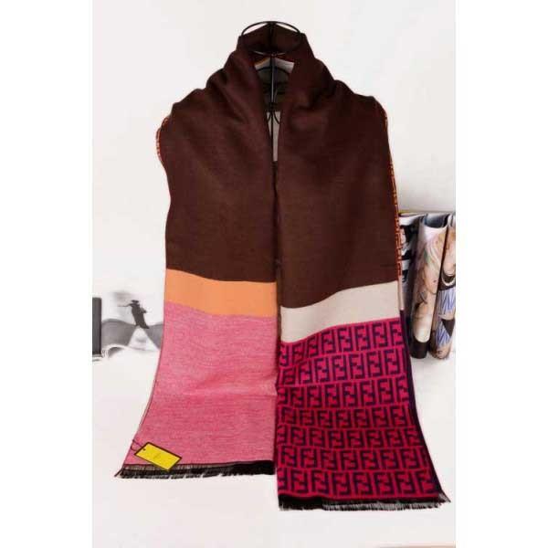 Fendi wool brown scarf