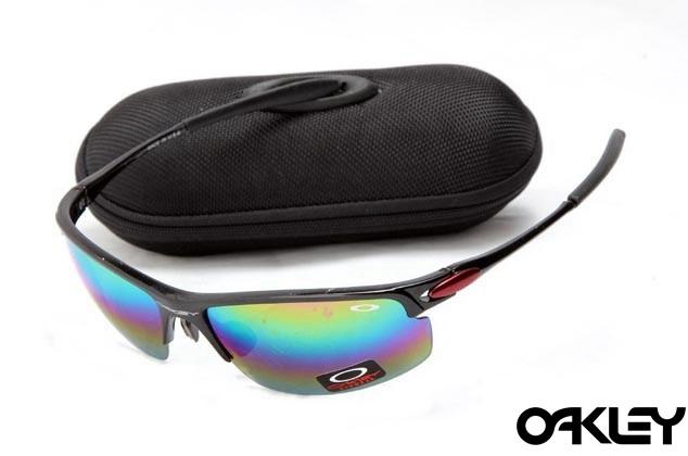Oakley razrwire nbt sunglasses in black and fire iridium