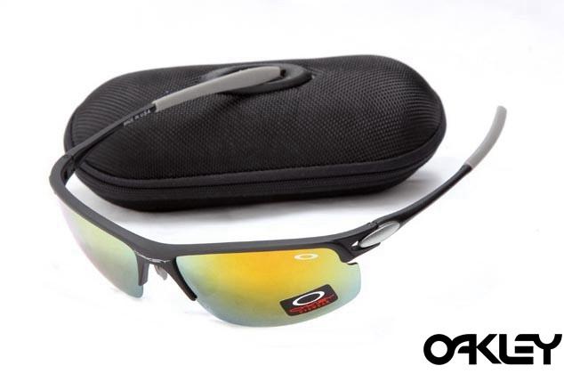 Oakley razrwire nbt sunglasses in matte black and fire iridium