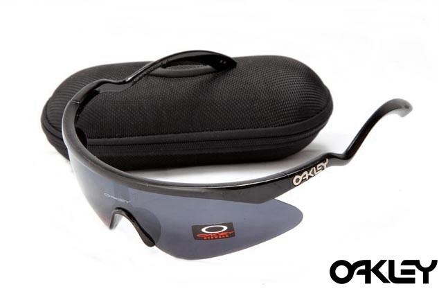 Oakley razor blade new sunglasses in black and black iridium