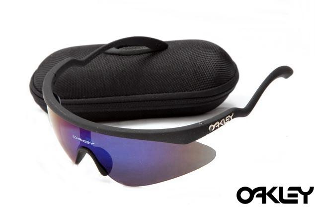 Oakley razor blade new sunglasses in black and ice iridium