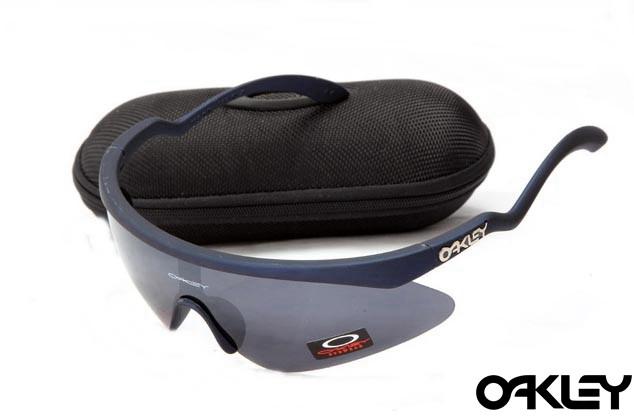 Oakley razor blade new sunglasses in navy blue and black iridium