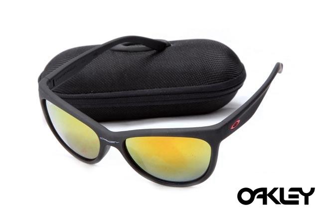 Oakley fringe matte black and fire iridium