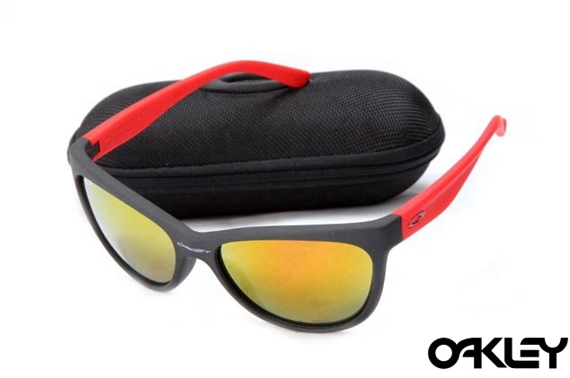 Oakley fringe matte black and red and fire iridium