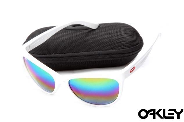 Oakley fringe matte white and colorful iridium