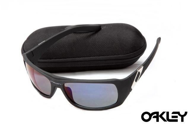 Oakley sideways sunglasses in matte black and ice iridium