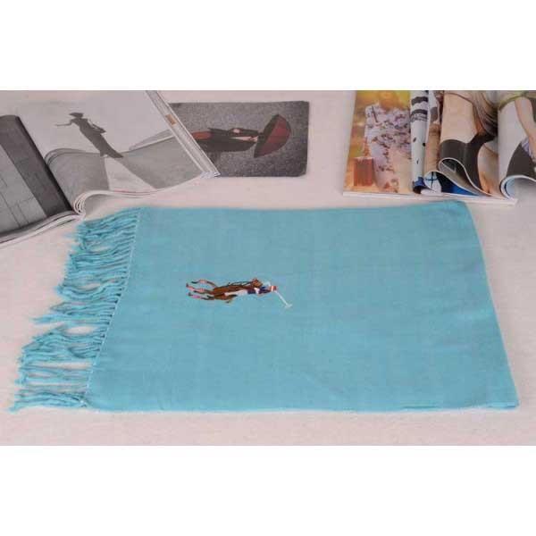 Polo cotton scarf blue