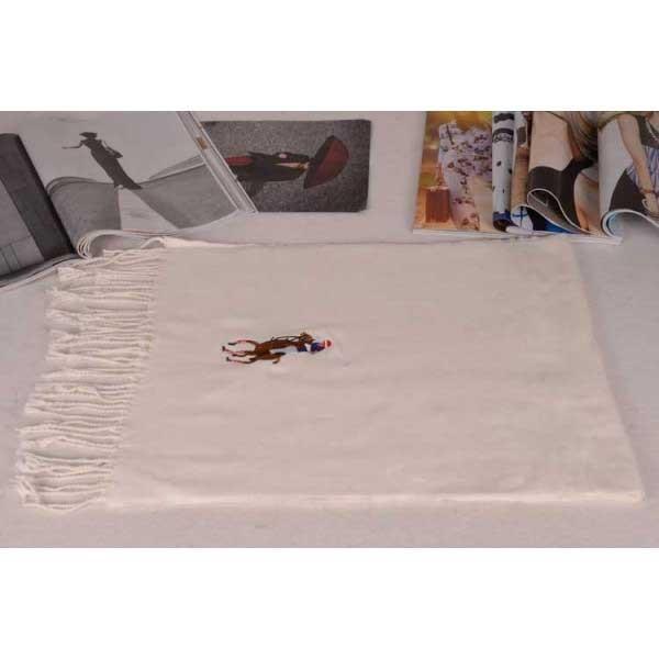 Polo cotton beige scarf